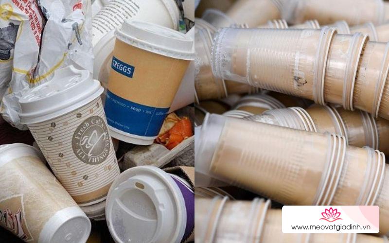 5 mẹo tái sử dụng ly nhựa, ly giấy cực hay
