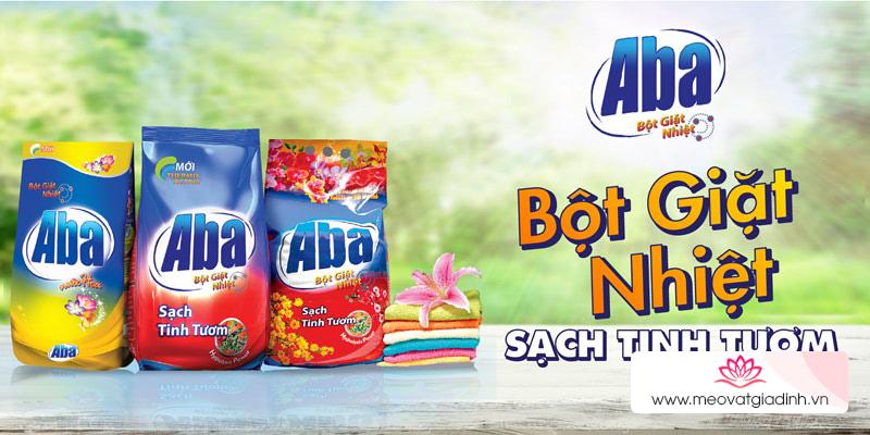 Các loại bột giặt Aba được nhiều chị em nội trợ tin dùng