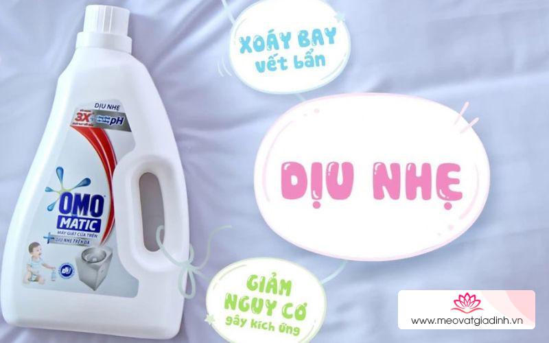 Các loại nước giặt Omo tốt nhất cho máy giặt cửa trên