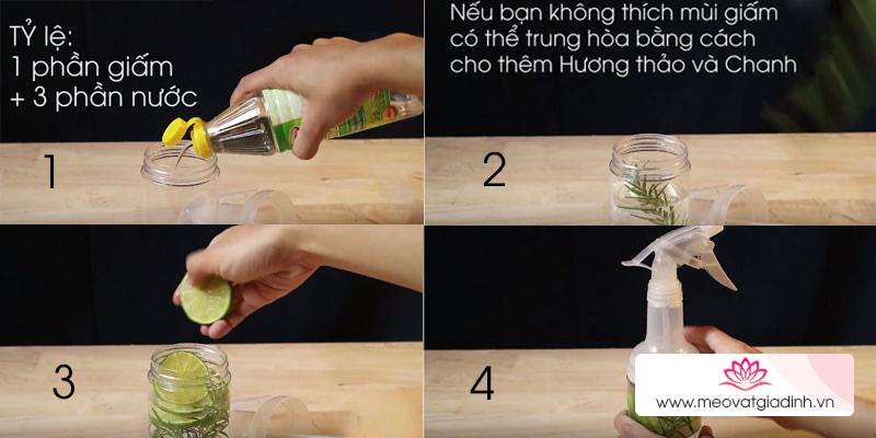 Cách làm nước tẩy rửa đa năng từ giấm