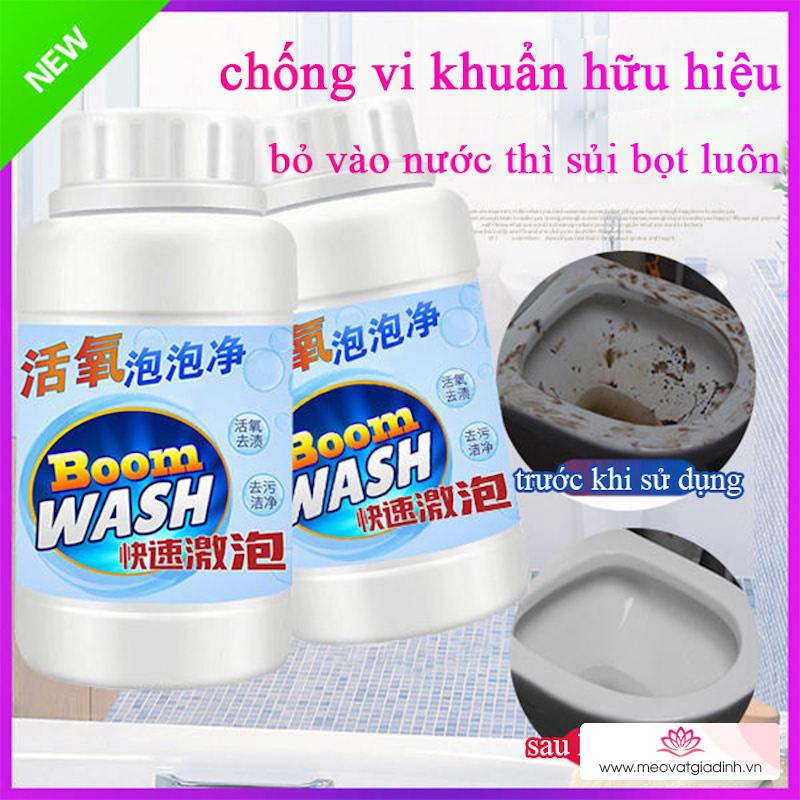 Chỉ cần ngâm thứ này và xả nước thì mọi vết bẩn trên bồn cầu, lồng giặt, bồn rửa mặt đều sạch bóng