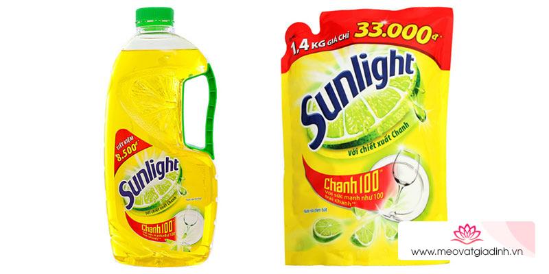 Công dụng và thành phần của nước rửa chén Sunlight