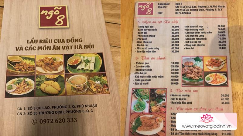 Những quán ăn ngon, nổi tiếng ở đường Trương Định Quận 3