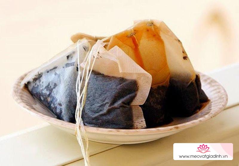 Túi trà: nguyên liệu khử mùi hôi giày cực kì hiệu quả
