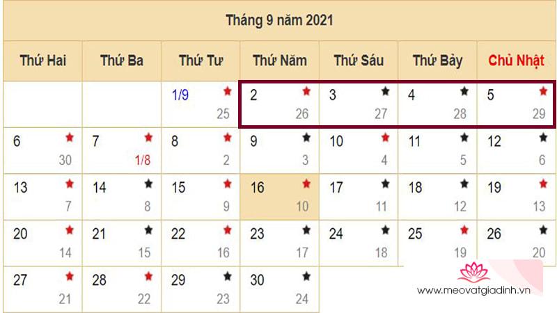 Lịch nghỉ các ngày lễ, Tết năm 2021 đầy đủ nhất