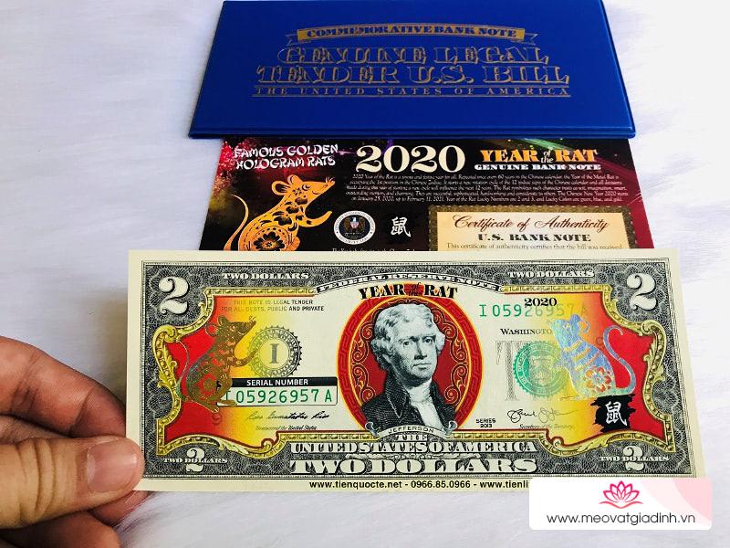 Tờ 2 đô in hình chuột vàng hút khách dịp cận Tết