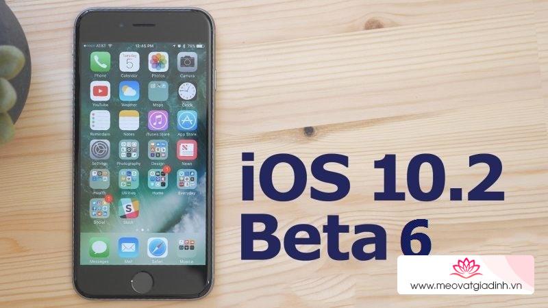 Đã có iOS 10.2 beta 6 dành cho iPhone và đây là cách tải về