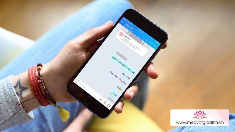 Cách đổi font chữ Zalo khi chat cực chất trên iPhone