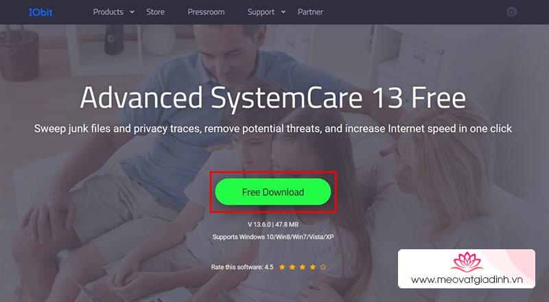 Cách tải ứng dụng dọn dẹp máy tính bản quyền Advanced SystemCare 13 Pro đang miễn phí