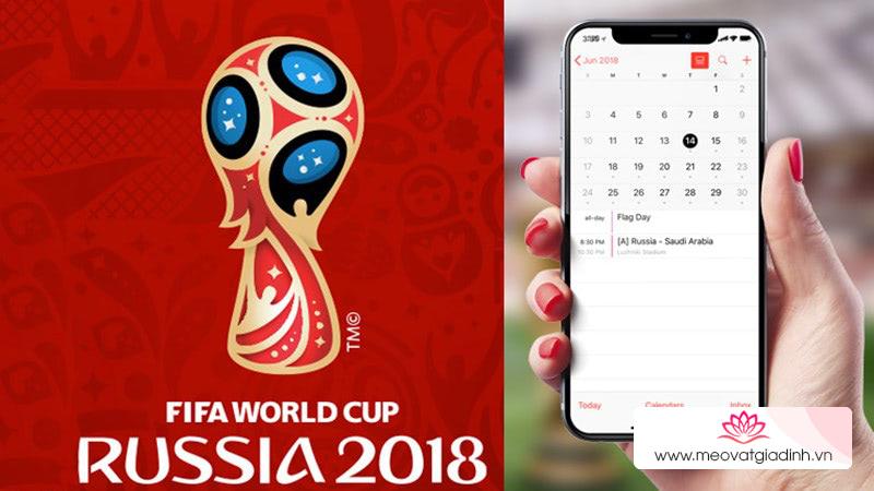 Cách thêm lịch xem World Cup 2018 cho Google, Microsoft và Apple Calendar