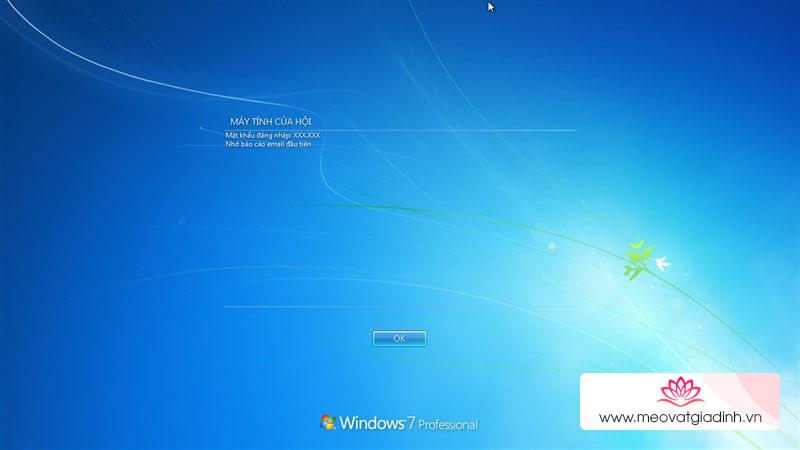 """Tạo """"lời chào"""" thân thiện khi mở máy tính trên Windows 7/8.1/10"""