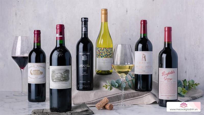 Tìm hiểu về kích thước chai rượu vang